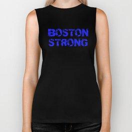 Support BOSTON STRONG Blue Grunge Biker Tank