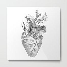 Mermaid Heart Metal Print