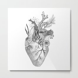 Mermaid Heart Metal Print