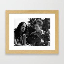 JOAN BAEZ & BOB DYLAN Framed Art Print