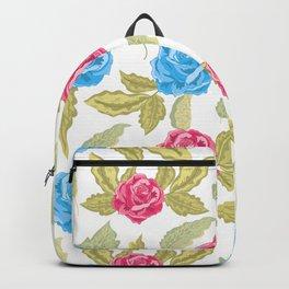 Rose pattern rose petals summer face mask Backpack