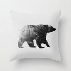 Into the Wild b&w Throw Pillow