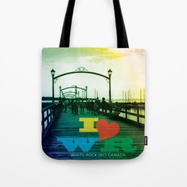 I <3 White Rock (BC) Canada - Colorful Pier Tote Bag