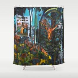 Walk Shower Curtain
