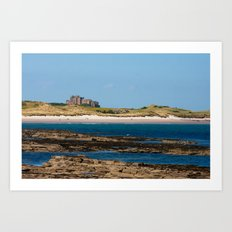 Bamburgh Castle Beach Art Print