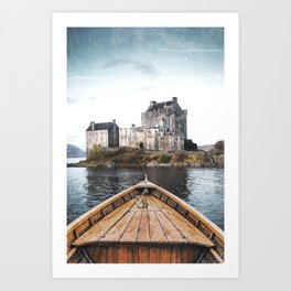The Boat and the Castle-Scotland Art Print