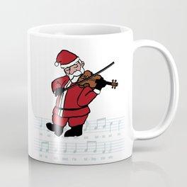 Swinging Santa - Violin Coffee Mug