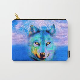 Wolf Moon and the Deep Blue Sea Carry-All Pouch