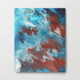 Fantasy in Copper and Blue Metal Print