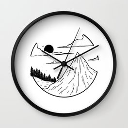 Paysage rond 1 Wall Clock