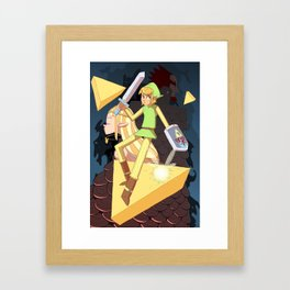 Tribute the Legend of Zelda Framed Art Print