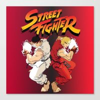 street fighter Canvas Prints featuring Street Fighter by Zanderillos