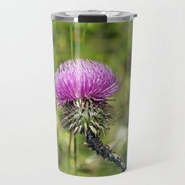 Purple thistle Travel Mug