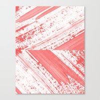 coral Canvas Prints featuring CORAL by LEEMO