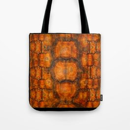 TEXTURED NATURAL ORGANIC TURTLE SHELL PATTERN Tote Bag