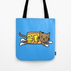 box cat Tote Bag