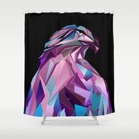 eagle Shower Curtains featuring Eagle by Jonathan Vizcuna