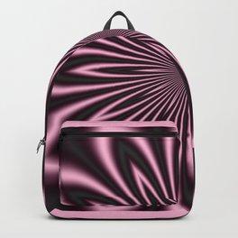 Pink and Black Flower Backpack