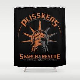 Snake Plissken's Search & Rescue Pty. Ltd. Shower Curtain