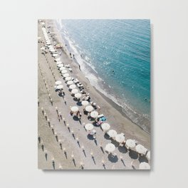 Sorrento Beach Scene Metal Print