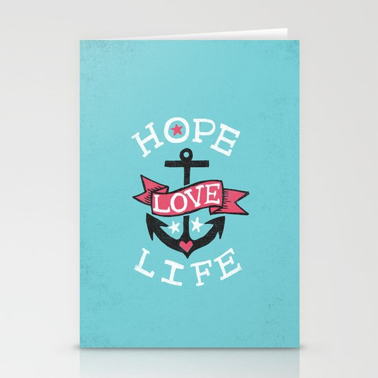 HOPE LOVE LIFE - ANCHOR Stationery Cards
