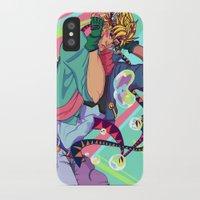 jjba iPhone & iPod Cases featuring Caesar Zeppeli JJBA Battle Tendency by Lemonade Stand Of Life
