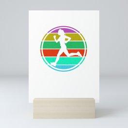 Eat Sleep Run Repeat I  Design for Running women Mini Art Print