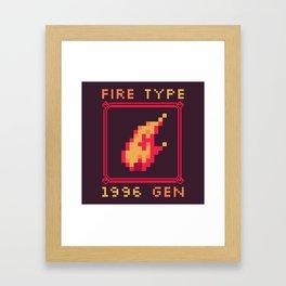 Fire Type Framed Art Print