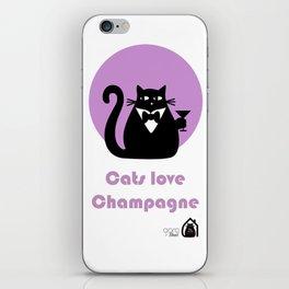 """Cats love Champagne"" by Qora & Shaï iPhone Skin"