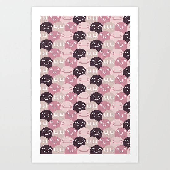Pattern Smile Art Print