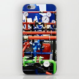 Piping with manometers for industry iPhone Skin