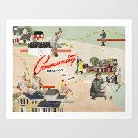 community Art Prints featuring Community by Heather Landis