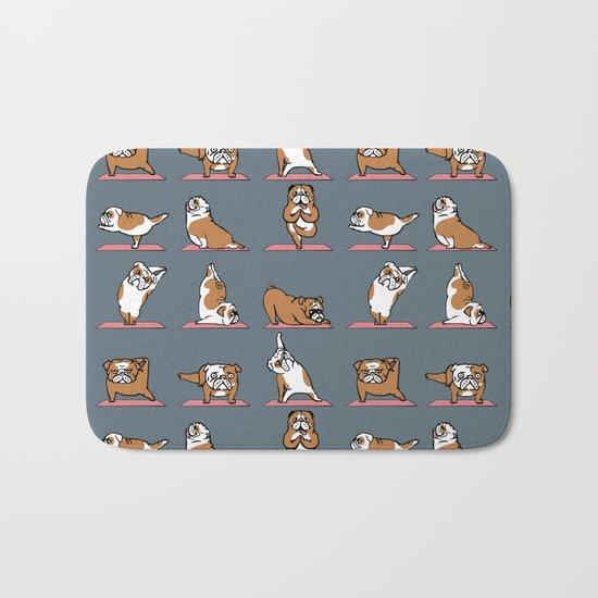 English Bulldog Yoga Bath Mat