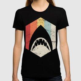 Retro 70s Great White Shark Icon T-shirt