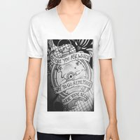 compass V-neck T-shirts featuring COMPASS by Gabrielle Wall