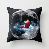 santa Throw Pillows featuring Santa by Cs025