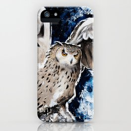 """Owl - Animal - """"I own the night..."""" by LiliFlore iPhone Case"""