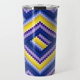 Bargello Quilt Pattern Impression 2 Travel Mug