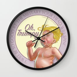 """Oh, Trumpy!"" — Military Quote 2 Wall Clock"