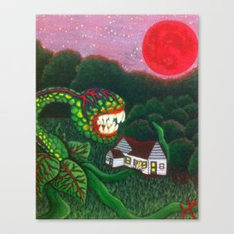 Man Eating Plant Canvas Print