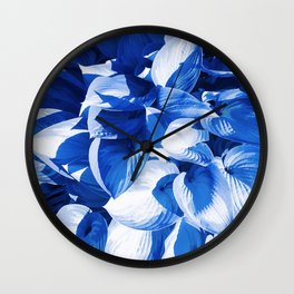 Botanic leafage - cobalt Wall Clock