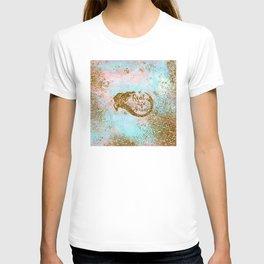 Faux Gold Glitter- REAL LIFE MERMAID On Sea Foam T-shirt