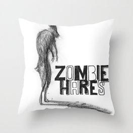 Zombie Hare Throw Pillow