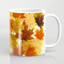 Red Maple Leaves Coffee Mug