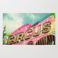 circus Area & Throw Rugs featuring Circus by Cassia Beck