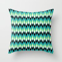 mid century Throw Pillows featuring Mid-century Mod by Holly Helgeson