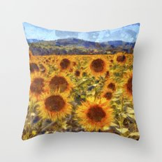 Sunflowers Vincent van Gogh Throw Pillow
