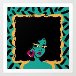 AFRO---GIRL Art Print