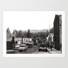 Snowy Nevada City Art Print