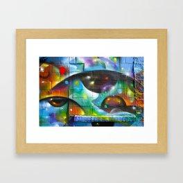 Psychedelic Eyes  Framed Art Print